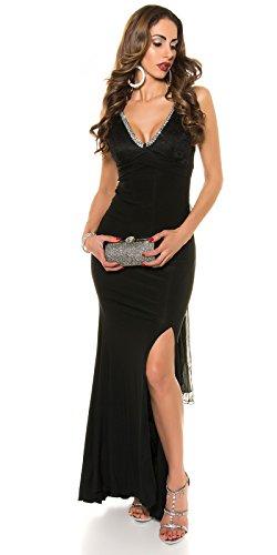 KouCla Red Carpet Look Abend Kleid mit Spitze Size M36 38 Schwarz - 8