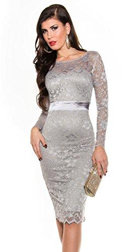 Kleid grau silber