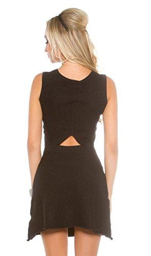Koucla Tailliertes Strick-Minidress mit Rücken-Cutout und Glitzer-Akzente S - 2