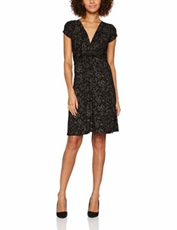 KRISP Damen Kleid 6610, Braun (Mokka/Schwarz 38), 46 (Herstellergröße: 18) - 1