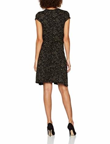KRISP Damen Kleid 6610, Braun (Mokka/Schwarz 38), 46 (Herstellergröße: 18) - 2