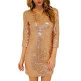 LAEMILIA Bleistiftkleid Minikleid Cocktailkleid mit Pailletten Rückenfrei Partykleid Kurz für Party Hochzeit Nachtclub - 1