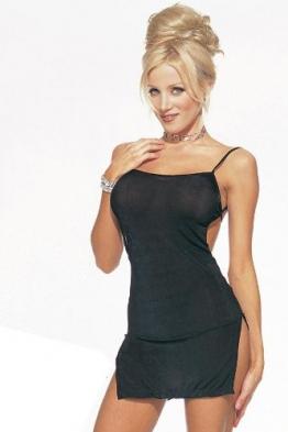 Leg Avenue - Slinky Micro-Kleid - tief geschnittener Rücken - Fuchsia - One Size - LA 8516 -