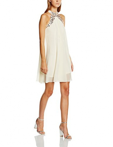 Lipsy Damen Cocktail Kleid, Gr. 38, Beige (Nude) - 1