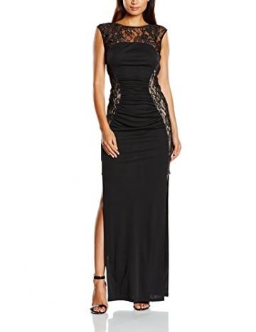 Lipsy Damen, Cocktail, Kleid, Lace Maxi, Schwarz (Black), GR.40 EU (Herstellergröße:  12) - 1