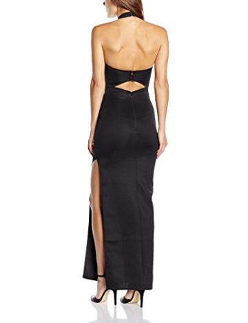 Lipsy Damen Cocktail Kleid Lazer Cut Out High Neck Maxi, Schwarz (Black), 34 - 2