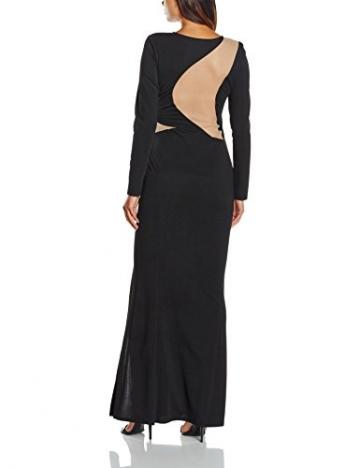 Lipsy Damen, Cocktail, Kleid, Mesh Illusion Maxi, Schwarz (black/nude),Gr.36 (Herstellergröße:8) - 2