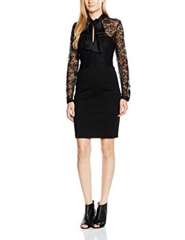 Lipsy Damen, Cocktail, Kleid, Michelle Keegan for Lipsy Wax Lace Top Pussy Bow, GR. 40 (Herstellergröße: Size 14), Schwarz (Black) - 1