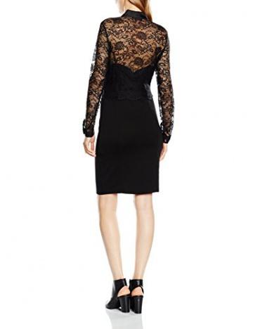 Lipsy Damen, Cocktail, Kleid, Michelle Keegan for Lipsy Wax Lace Top Pussy Bow, GR. 40 (Herstellergröße: Size 14), Schwarz (Black) - 2