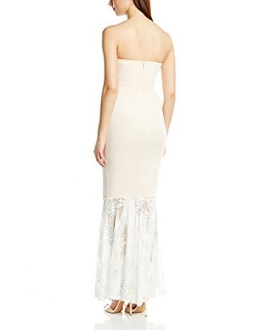 Lipsy Damen Cocktail Kleid NUDE PUFF PRINT Maxi, Gr. 38 (Herstellergröße: Size 12), Beige (Nude) - 2