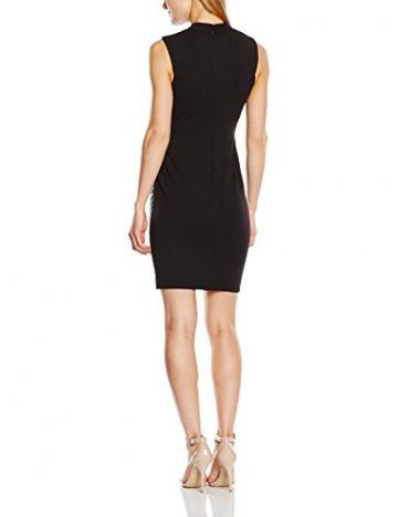 Lipsy Damen Schlauch Kleid BLACK PU PNL SHFT, Knielang, Gr. 40 (Herstellergröße: Size 14), Schwarz - 2