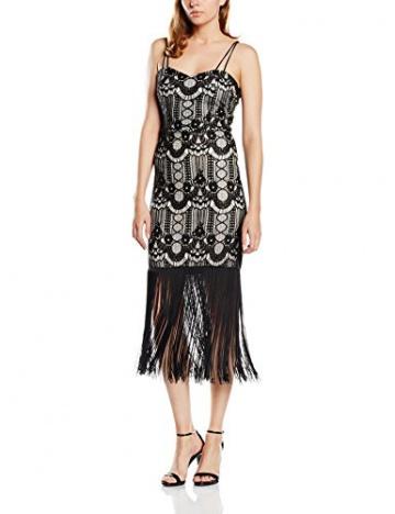 Lipsy Damen, Schlauch, Kleid, Michelle Keegan For Lipsy Lace Fringe, GR. 36 (Herstellergröße: Size 10), Schwarz (Black) - 1