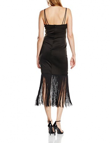 Lipsy Damen, Schlauch, Kleid, Michelle Keegan For Lipsy Lace Fringe, GR. 36 (Herstellergröße: Size 10), Schwarz (Black) - 2