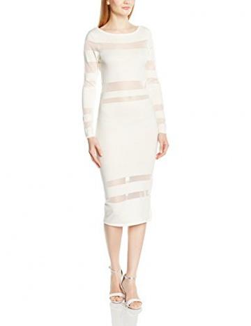 Lipsy Damen Schlauch Kleid WHT SHEER STRP MX DR, Midi, EU 34 (Herstellergröße 8), Weiß - 1