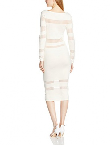 Lipsy Damen Schlauch Kleid WHT SHEER STRP MX DR, Midi, EU 34 (Herstellergröße 8), Weiß - 2