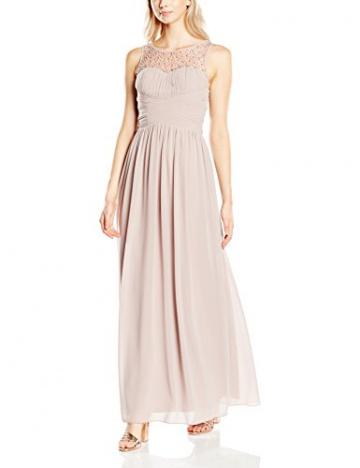 Little Mistress Damen, Abendkleid Embellished Detail Sleeveless, GR. 36 (Herstellergröße: Small), Beige (mink) - 1