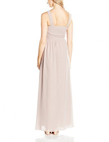 Little Mistress Damen, Abendkleid Embellished Detail Sleeveless, GR. 36 (Herstellergröße: Small), Beige (mink) - 2