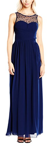 Little Mistress Damen, Abendkleid Embellished Detail Sleeveless, GR. 38 (Herstellergröße: Large), Blau (navy) - 1
