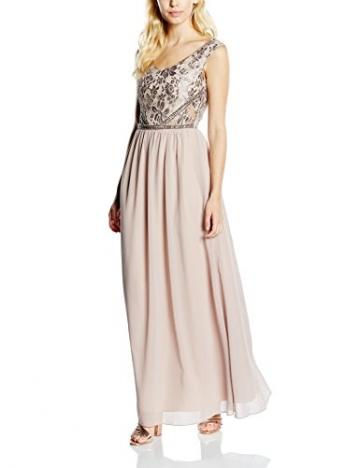 Little Mistress Damen Dekolletiertes Kleid Gr. Größe 34 EU, Beige - Beige (Mink) - 1