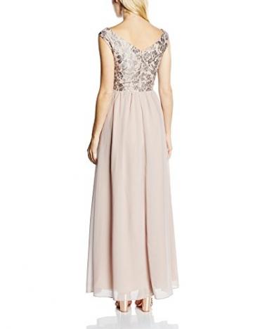 Little Mistress Damen Dekolletiertes Kleid Gr. Größe 34 EU, Beige - Beige (Mink) - 2
