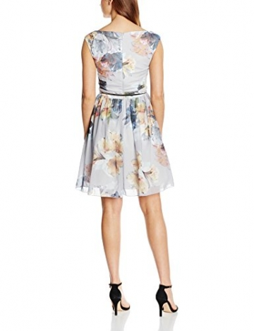 Little Mistress Damen Kleid Embellished Trim, Mehrfarbig (Print), 42 (Herstellergröße: 14) -