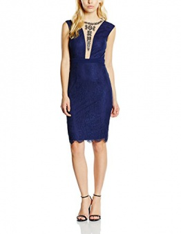 Little Mistress Damen Kleid Gr. 36, Blau - Blau (Marineblau) - 1