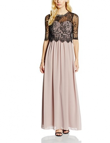 Little Mistress Damen Kleid Gr. 36, Mehrfarbig - Multicoloured Beige / Black (Mink) - 1