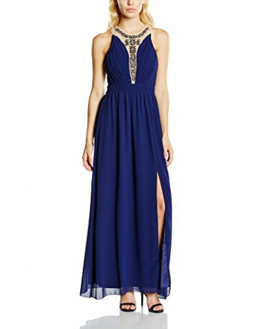 Little Mistress Damen Kleid Gr. 40, Blau - Blau (Marineblau) - 1
