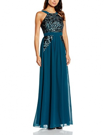 Little Mistress Damen Kleid Gr. 40, Blau - Blau (Teal) - 1