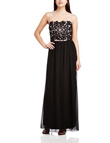 Little Mistress Damen Kleid Lace Crochet, Maxi, Gr. 38, Schwarz (Black/Mink) - 1