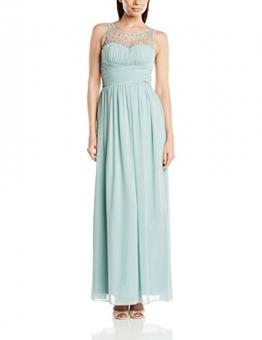 Little Mistress Damen Kleid Top Embellished, Maxi, Gr. 36 (Herstellergröße:Size 10), Grün (Sage) - 1