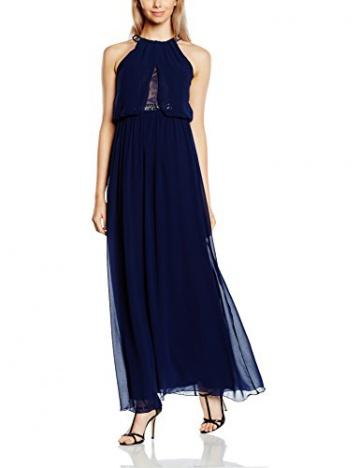 Neckholder kleid blau
