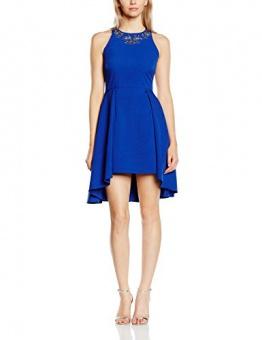 Little Mistress Damen SkaterKleid Gr. 36, Blau - Kobaltblau - 1