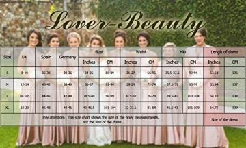 Lover-Beauty Kleider Damen V-Ausschnitt Rückenfrei Neckholder Abendkleider Elegant Cocktailkleid Multi-Way Maxikleid Lang Chiffon Party Kleid - 4