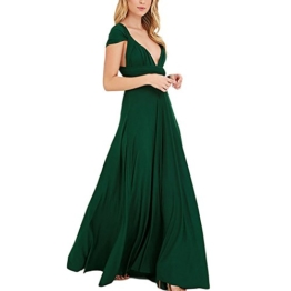 Lover-Beauty Kleider Damen V-Ausschnitt Rückenfrei Neckholder Abendkleider Elegant Cocktailkleid Multi-Way Maxikleid Lang Chiffon Party Kleid - 1