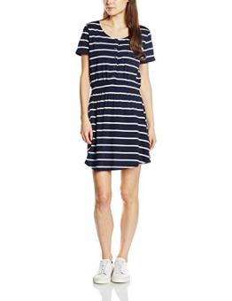 LTB Jeans Damen Kleid RIWOLA DRESS, Mini, Gr. 40 (Herstellergröße: L), Mehrfarbig (NAVY RAW STRIPES 7656.0) -