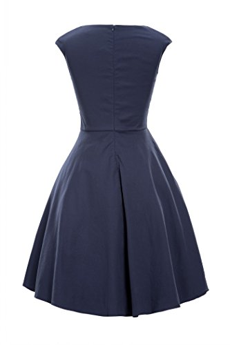 Luouse Damen Audrey Hepburn 50s Retro Vintage Bubble Skirt Rockabilly Swing Evening Kleider -