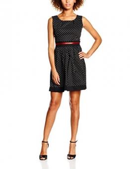 Madonna Damen Kleid 74-2613, Mehrfarbig (Black/White 8931), 42 (Herstellergröße: XL) -