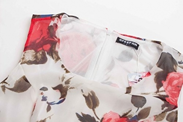 Mädchen Blumenkleid, ErGirls A-Linie Ärmellos Chiffonkleid Brautjungfernkleid Partykleid Prinzessin Hochzeit Kleid Minikleid (38, Floral07) -
