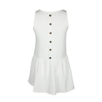Mallorma® Damen Sommer Retro Print Abend Party Strand Minikleid Frauen bedruckten Rückenausschnitt Print Kleid (S, weiß) - 8