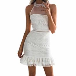 Mallorma® Frauen Sexy Spitze Bodycon Cocktail Party Bleistift Midi Dress Bandage Kleider Sexy Spitze Party Bleistift Langarm Minikleid Kleid - 1