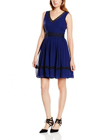 Manoush Damen CocktailKleid, Uni Gr. 34, Blau - Blau (Marineblau) - 1