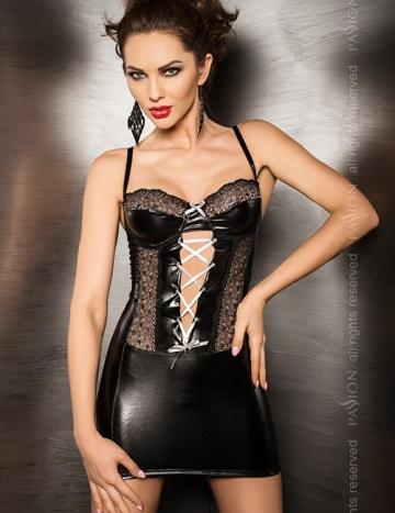 Marie - Wetlook Kleid mit Spitze