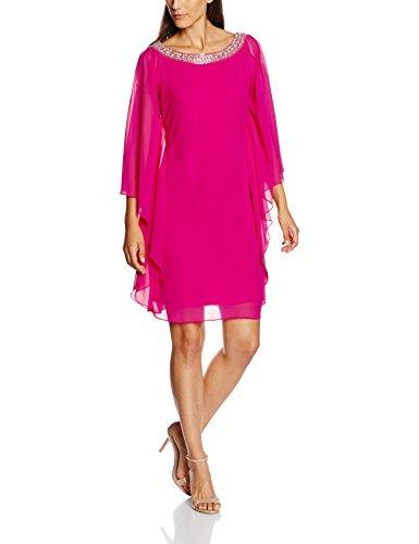 Weites Pinkes Partykleid Mit Rundhals Ausschnitt Sexy Kleider Com