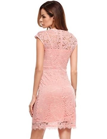 Meaneor Damen Elegantes Spitzen Kleid Mini Sommerkleider Etuikleid Partykleider Abendkleid mit Spaghettiträger - 5