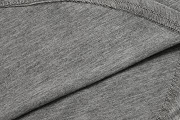 Meaneor Damen Lang Tunika Kurzarm Kleid Shirt Herbst Bluse Minikleid O-Ausschnitt Stretch T-Shirt - 6