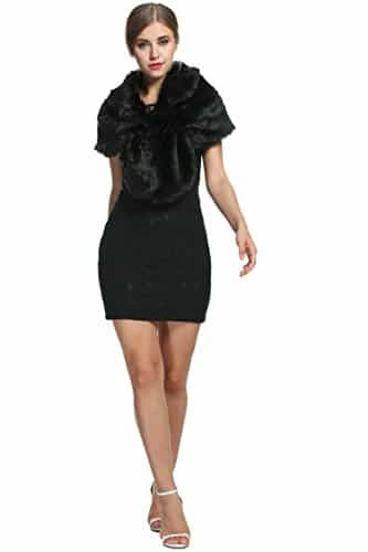 Meaneor Damen Spitzen Kleid Elegant Lace Partykleid Cocktail Party Festlich Kleid -