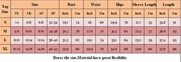 MERCIY Sexy Fest V Ausschnitt Langarm Bodycon Kleid ,Figurbetontes Kleid Knielang (M, Rot) - 5