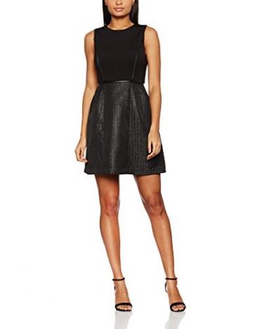 Mexx Damen Party-und Abendkleider Dress, Schwarz (Black 001), 40 (Herstellergröße: 40-L) -