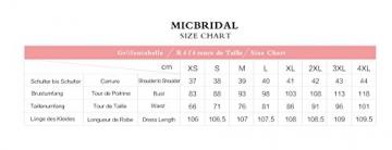 MicBridal® 1950er Vintage Streifen Rund Ausschnitt Retro Schwingen Pinup Rockabilly Kleid (XXL, Champagner Blumen) -